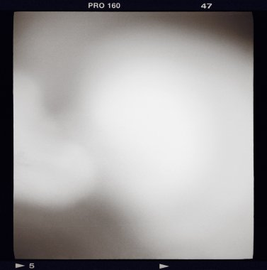 Blank medium format (6x6) film frame