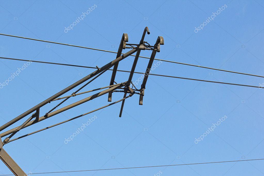 arasındaki tel havada araba elektrik bağlantısı — Stok Foto ...