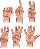čísla na prstech