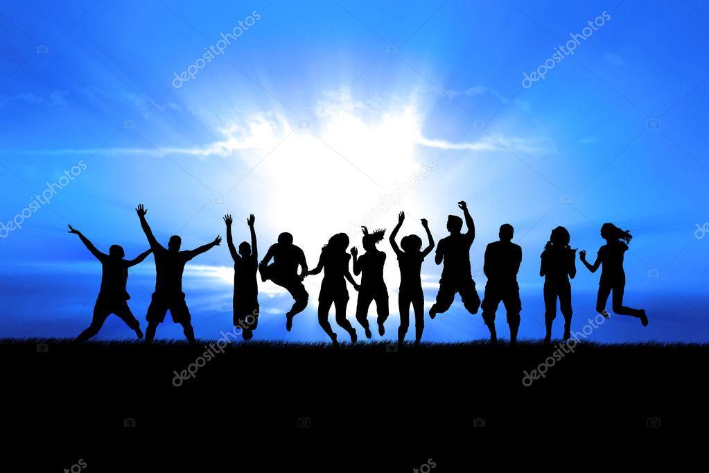 Jumping in Sun Rays