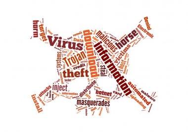 Background illustration of computer trojan horse virus