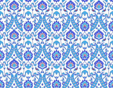 Islamic flower Pattern on white