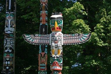 Totem Poles in Stanley Park, Vancouver Canada