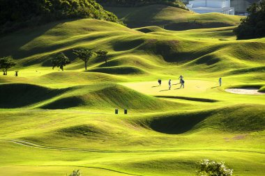 Golf place with wonderful green