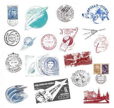 Postage stamps and labels from the former Soviet Union