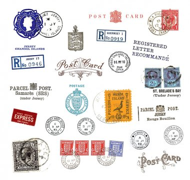 Postage stamps and labels from Canada