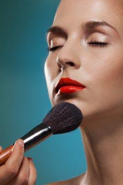 """Картина, постер, плакат, фотообои """"Профессиональный макияж художник"""", артикул 10958738"""