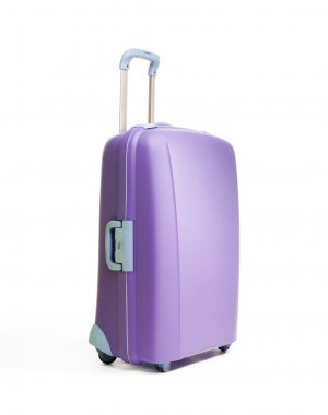 One big beautiful purple suitcases