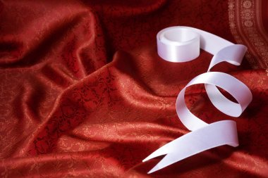 Ribbon and silk background