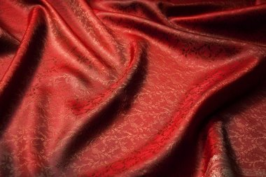Red beautiful fabric background