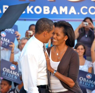 Barack Obama andMichelle Obama