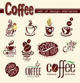 káva. prvky pro design