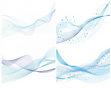 Abstract water vector background set with bubbles of air stock vector