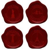 Fotografie Landmark sealing wax stamp set