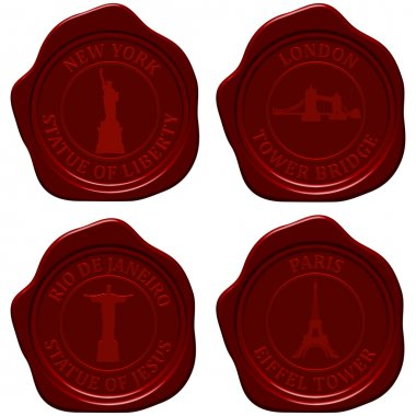 Landmark sealing wax stamp set