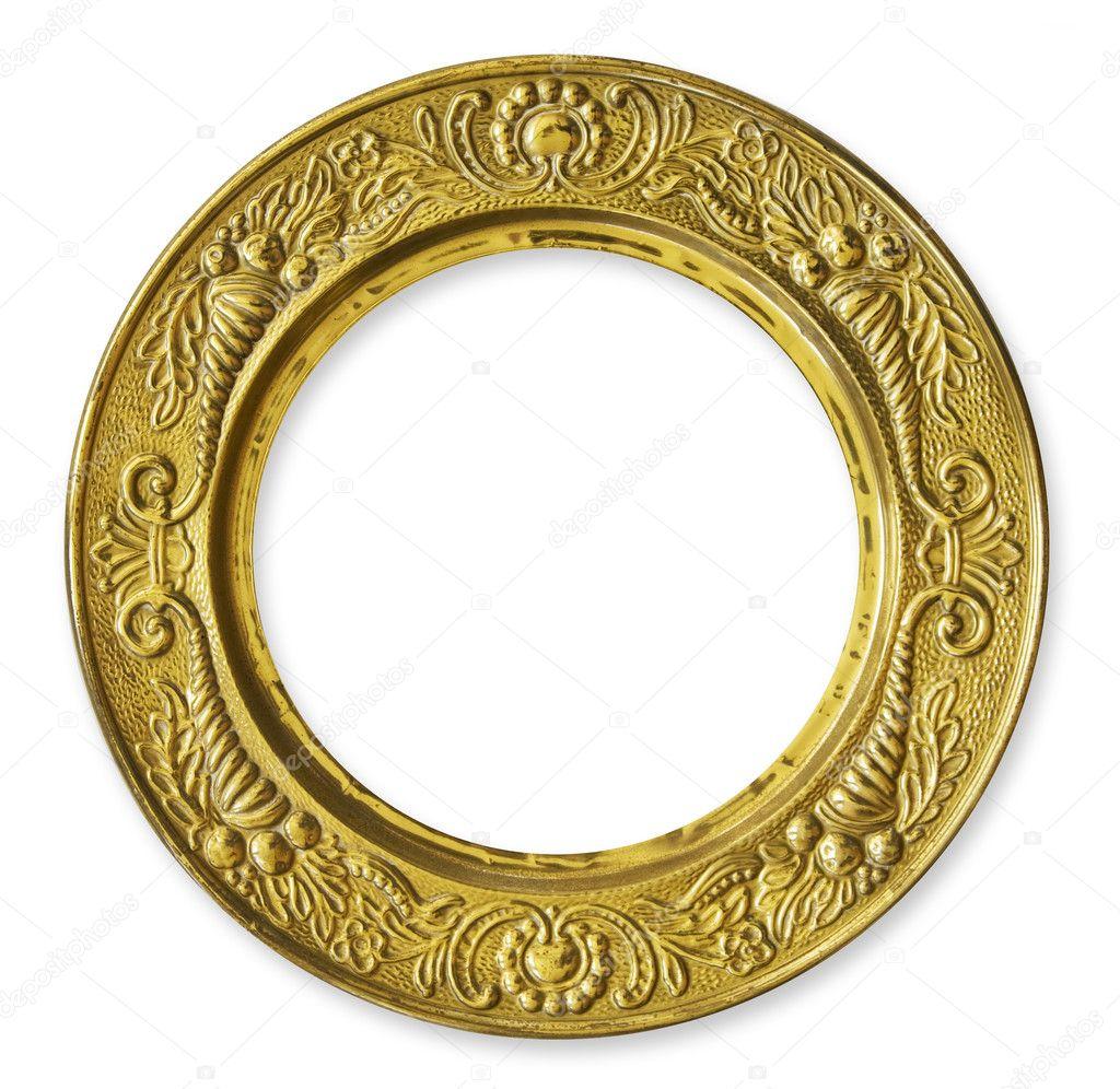 Gold Metal Circle Frame Stock Photo 169 Hddigital 11238137