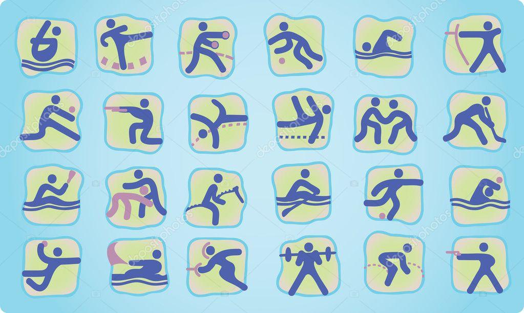 32fe3c1ba48e Символы летних Олимпийских видов спорта. Картинки виды спорта — вектор от  araraadt — Вектор от araraadt