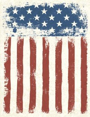 Grunge American flag background. Vector illustration, EPS 10. stock vector