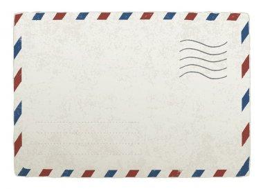 Vintage mailing envelope. Vector template for your designs, EPS