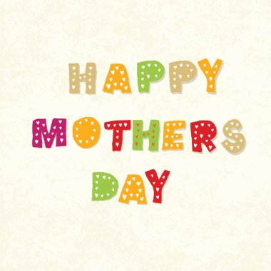 Happy mothers day greeting card template. Vector
