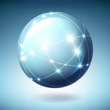Globe with satellites. Vector illustration, EPS10