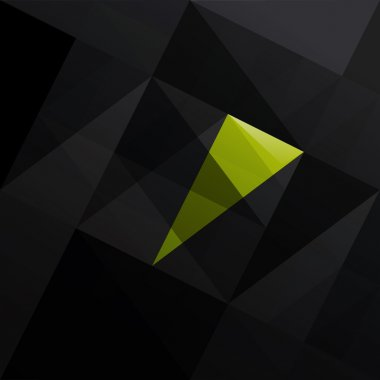 Abstract triangle black background.