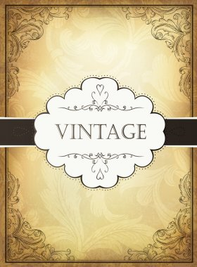 Vintage background with ornamental frame. Vector illustration, EPS10 clip art vector