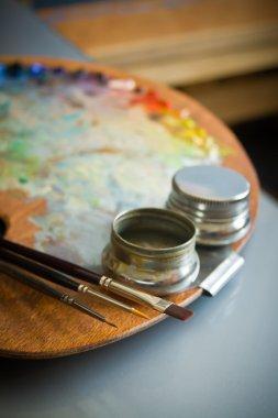 Artist's paint palette.