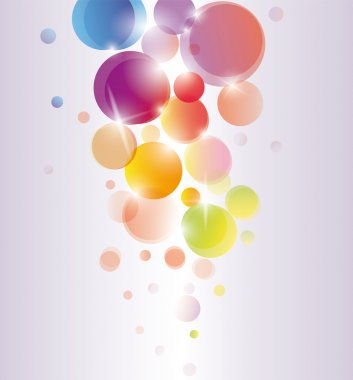 Abstract colored vector background circles