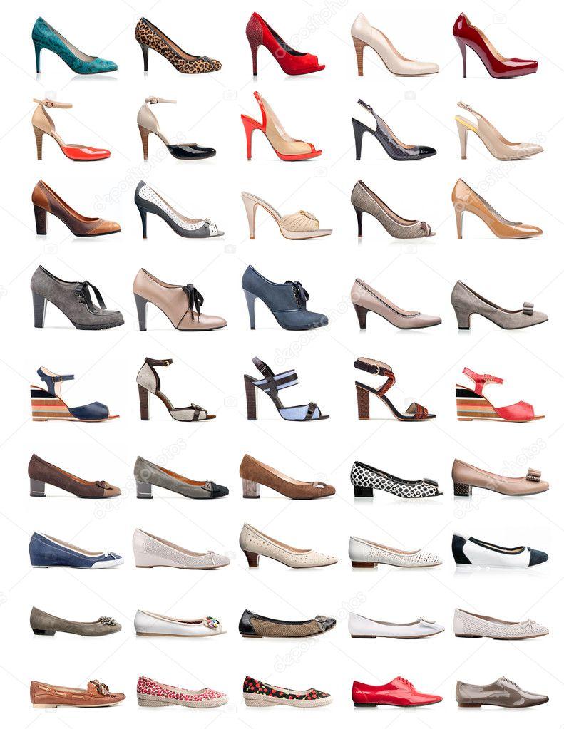 Разновидность женской обуви с фото