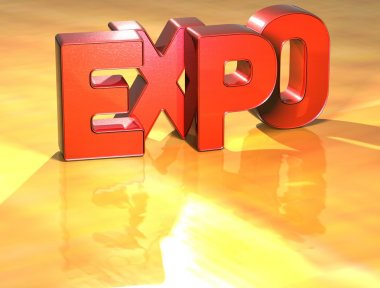 Word Expo on yellow background