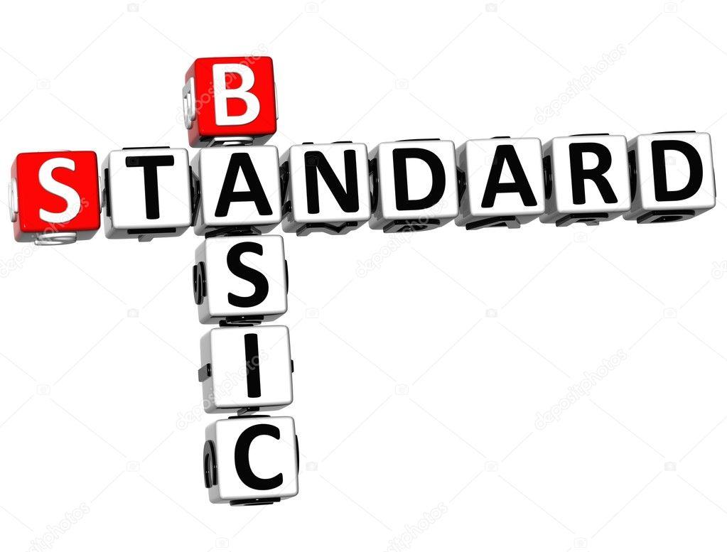 3D Basic Standard Crossword