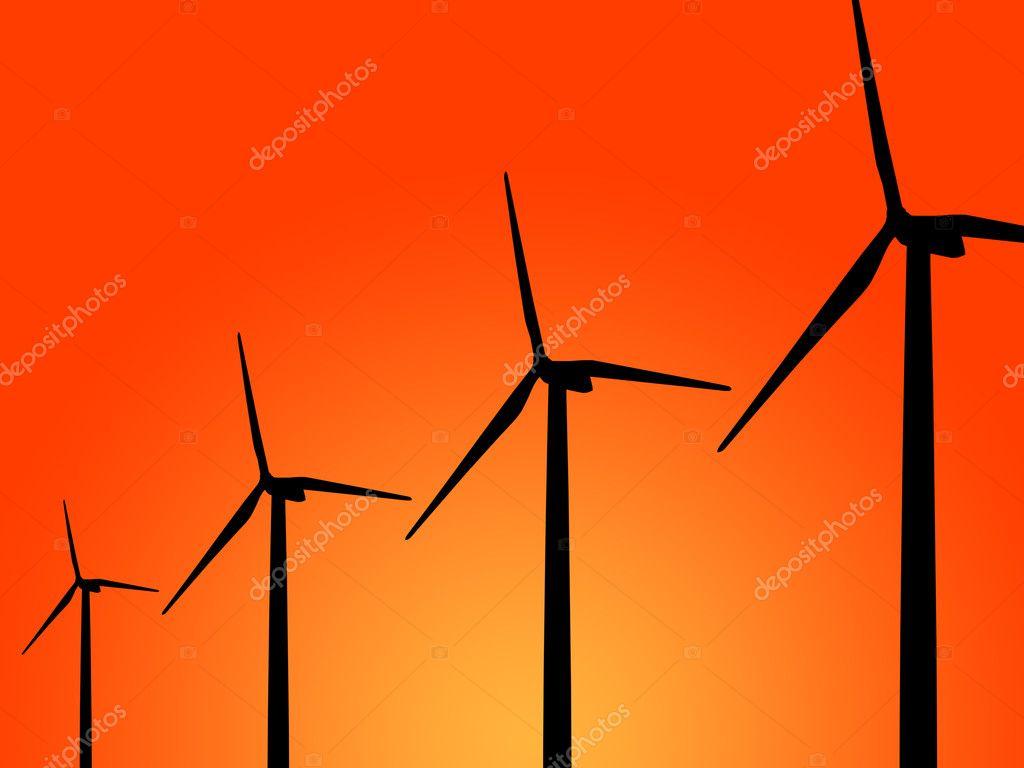 Wind-Turbine-generator — Stockfoto © happystock #11948785