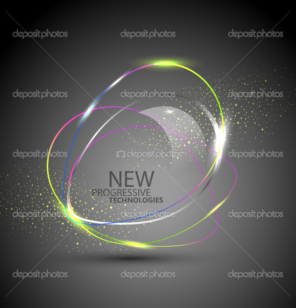 Vector round color banner. The element of web design on a white