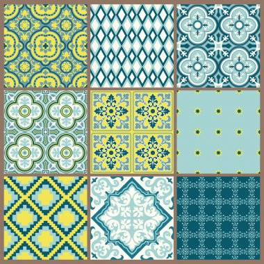 Seamless backgrounds Collection - Vintage Tile - for design and
