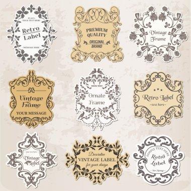 Vector Set: Vintage Frames, Calligraphic Design Elements