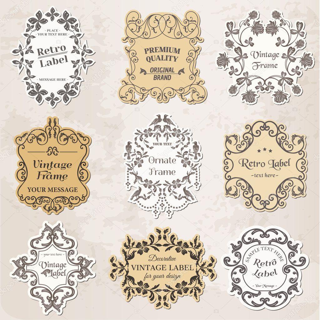 conjunto de vectores: marcos clásicos, elementos de diseño ...
