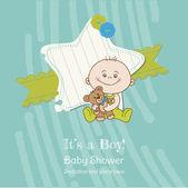 Baby boy sprchu a příjezdu karta - místo pro váš text