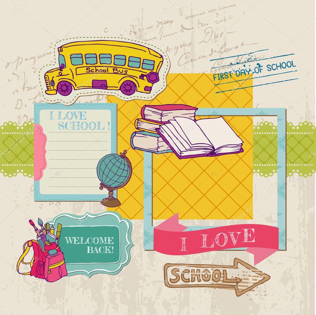 Scrapbook Design Elements -Back to School - for design and scrap