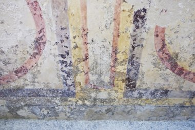 Damaged roman fresco