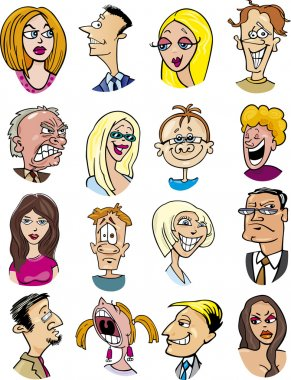 Cartoon characters and emotions