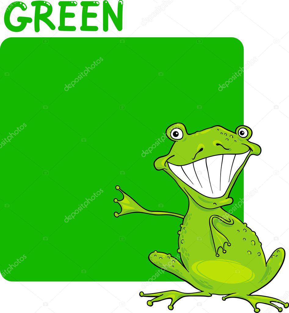 color green and frog cartoon u2014 stock vector izakowski 11339733