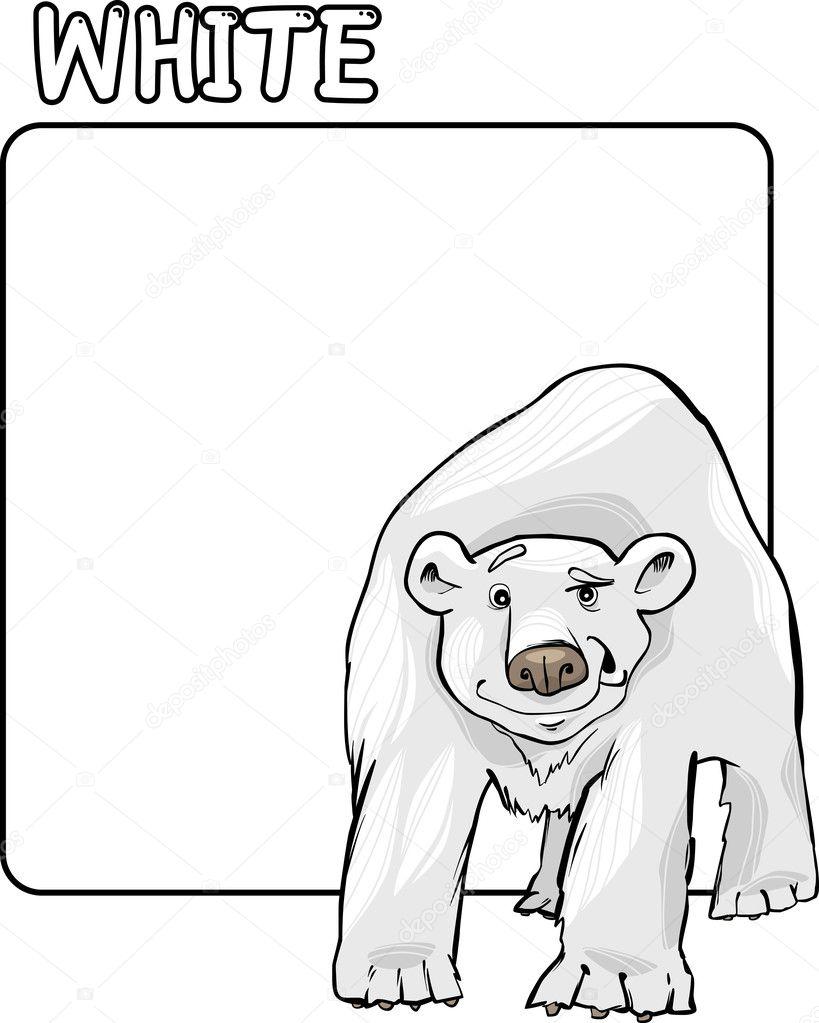 color white and polar bear cartoon u2014 stock vector izakowski