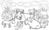 hospodářská zvířata pro omalovánky
