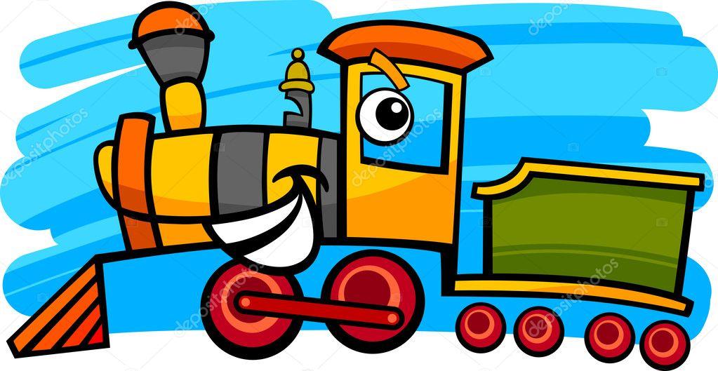 Locomotiva cartone animato o personaggio del treno