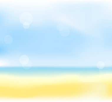 Summer beach blur background