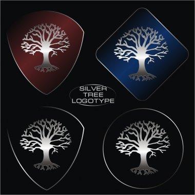 Silver tree logotype