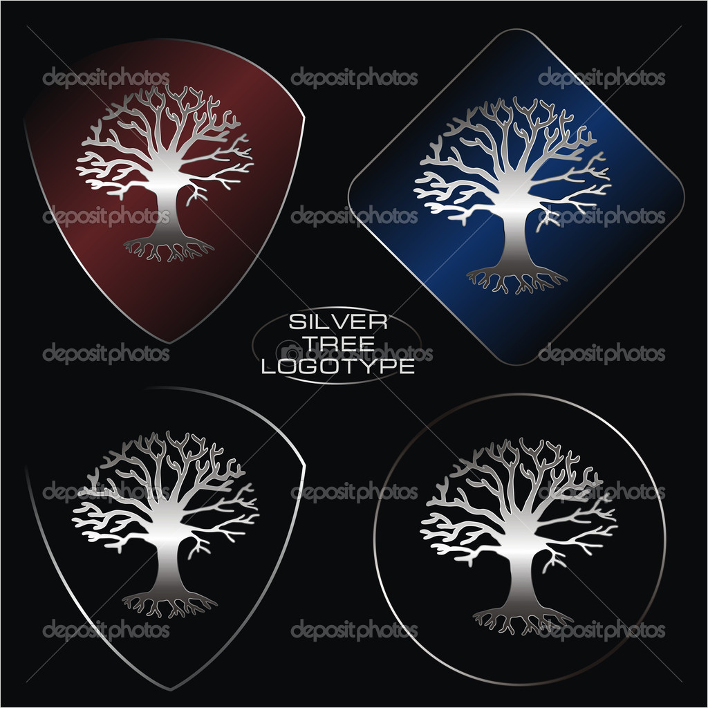 Silver tree logotype