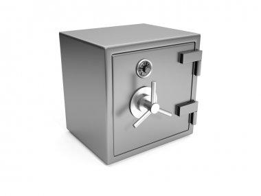 3d illustration: Cash safes closeup