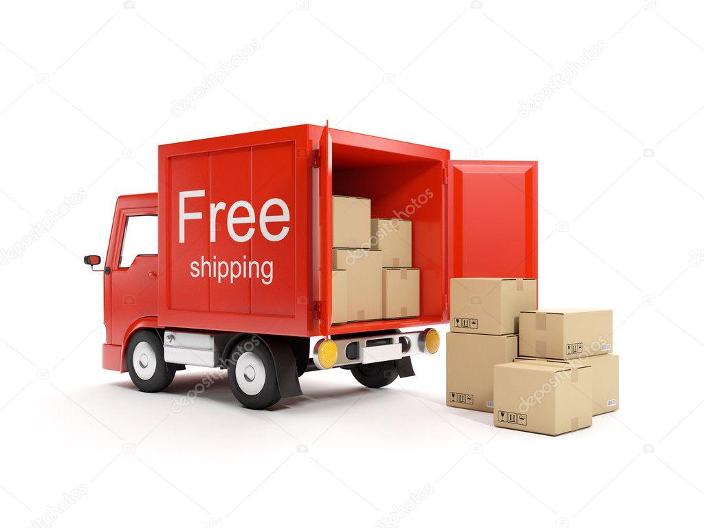 illustration 3d chargement et livraison des marchandises photographie kolobsek 11715560. Black Bedroom Furniture Sets. Home Design Ideas